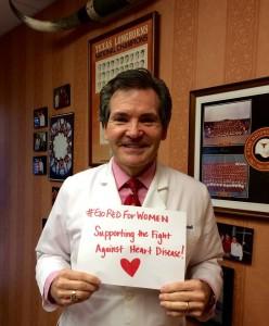 Here is Dr. Robert Mitchell Supporting #GoRedForWomen last year. (2015)