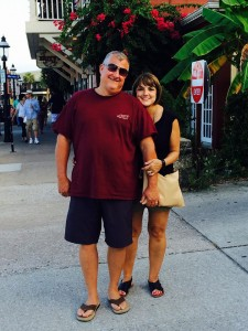 Susie with Husband Chris on vacation in Florida. Camden