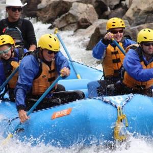 Amanda & Family White Water Rafting in Colorado.