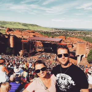 Amanda and her husband at Red Rocks in Colorado.