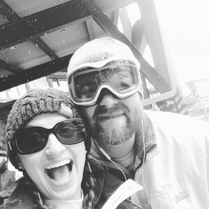 Amanda and her husband Chet Skiing in Colorado.
