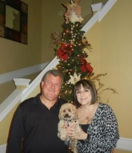 Chris, Susie, and one of her fur babies Marlee
