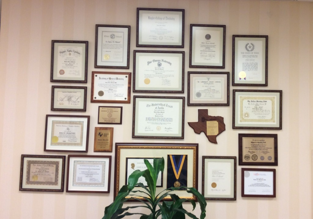 Awards and Accomplishments for Dr. Robert Mitchell